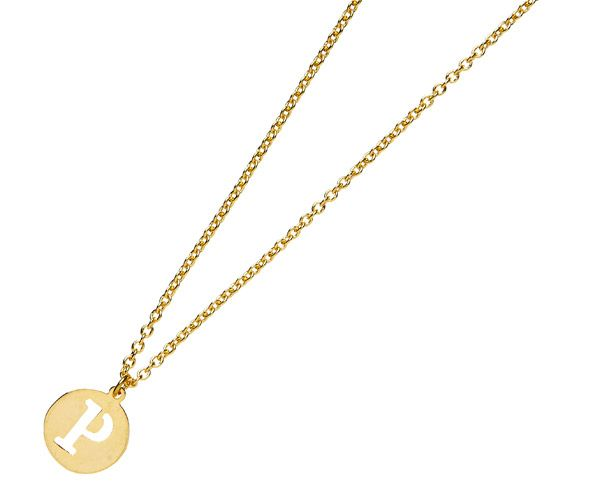 Gorgeous little gold #charm #necklace with an alphabet letter of your choice, by Jewellery House