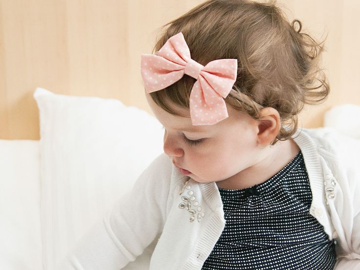 Infant Headband - Giant Vintage Dusty Rose Floral Bow