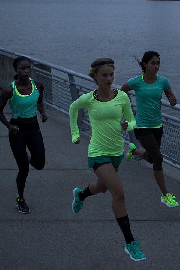 Stay seen at night in versatile and reflective gear. Shop our running favorites in the Spring Style Guide.