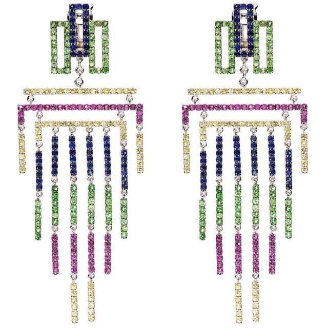Cascade d'Eden earrings (With images) | Art nouveau design ...