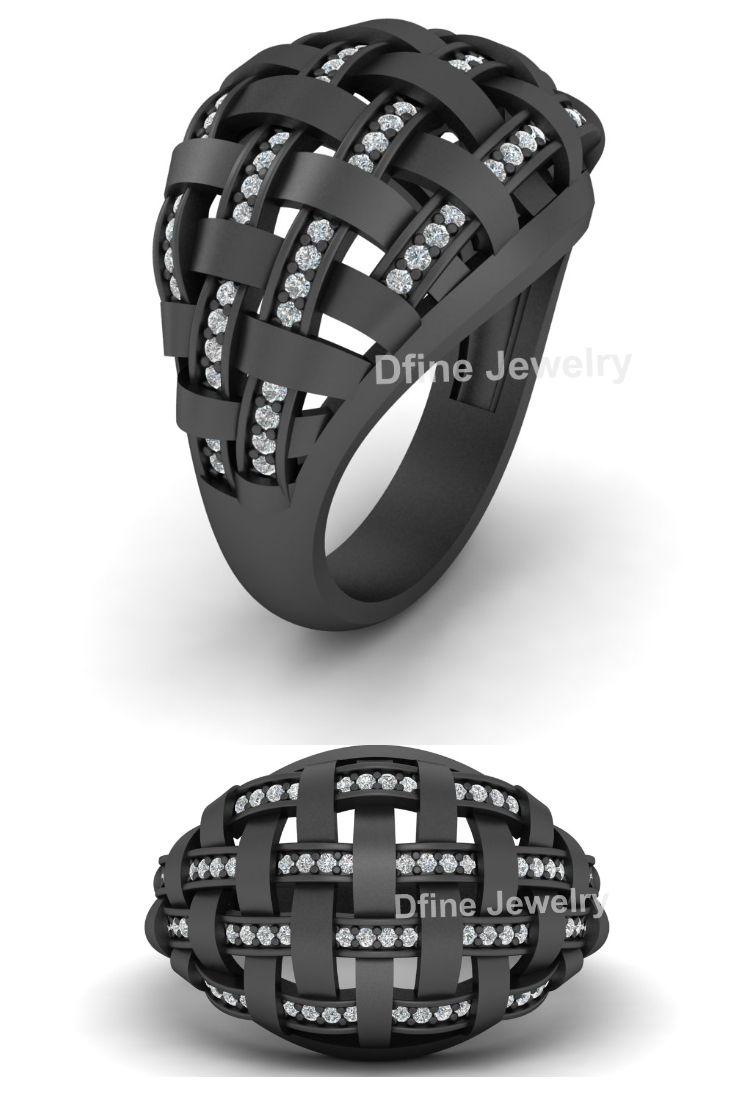 Diamond Mesh Wedding Ring Lattice Ring Diamond Wedding Bands