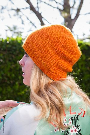 Herringbone Stitch Knit Hat Pattern : Herringbone style hat, but not the traditional herringbone stitch. Can be a m...