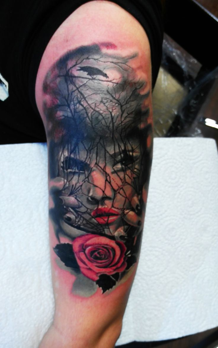 #tattoo  #tattoos  #tattooed  #tattooink  #tattooart  #tattoogirls  #tattooart  #girlstattoo  #ink  #realistictattoo  #rosetattoo  #tattoorose  #tattoocolor