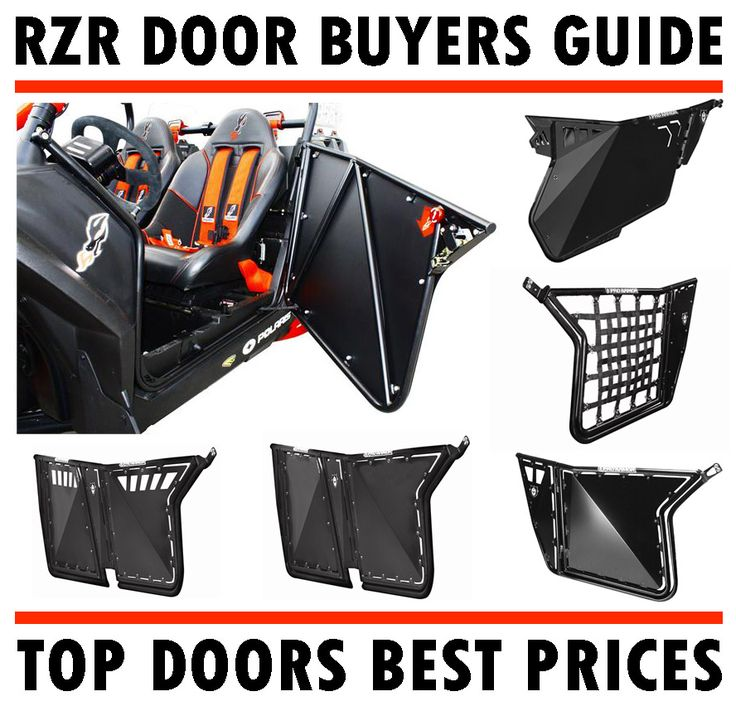 Best selection of Polaris RZR doors out there at the best prices! RZR doors from Dragon Fire Racing, Pro Armor, Blingstar, Factory UTV, PRP, ATR and more!