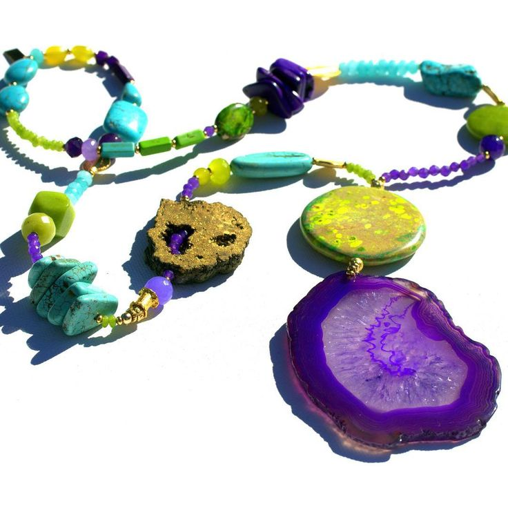 nothing lifts my mood more than Chartreuse, turquoise & purple gemstones on a grey winter day! To shop the entire collection of one of a kind statement pieces please follow link in bio! #Byron #statementjewellery #slowfashion #sustainablejewellery...