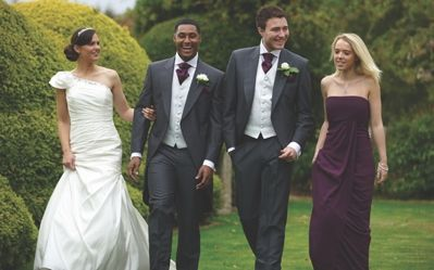 Our charcoal mohair tailcoat, Burford. #groom #weddingsuits #greysuit #groomsmen
