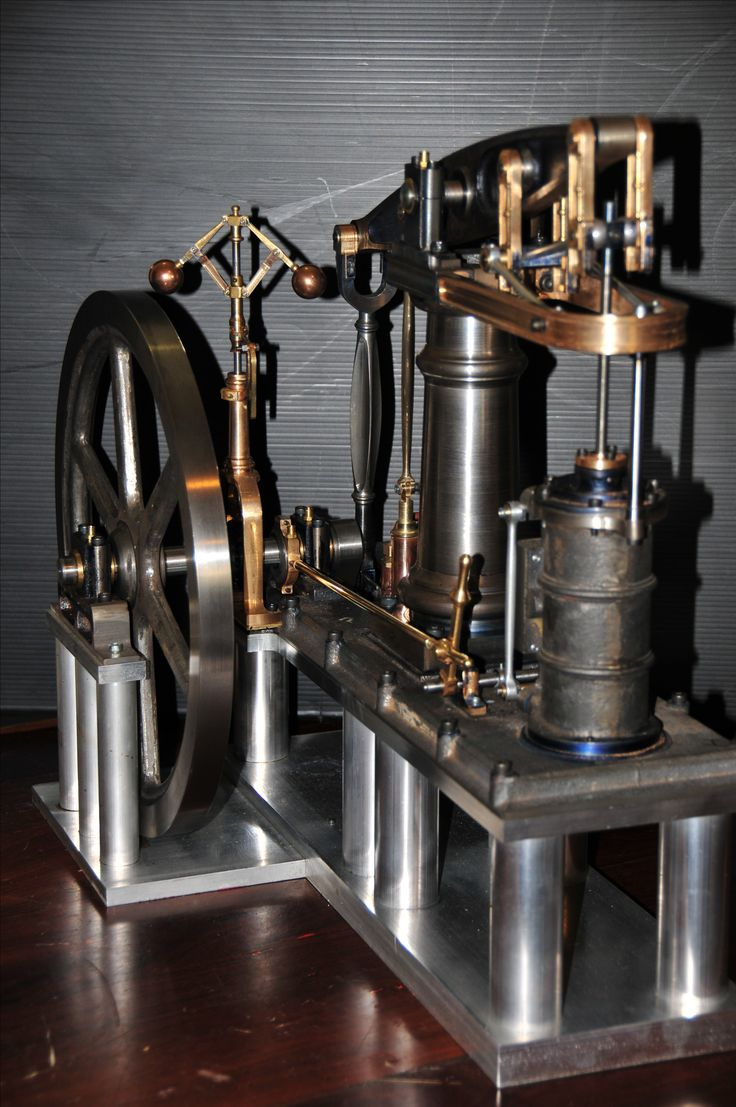1830 Beam engine model.  Steam powered.  See it running, and how it was made at johnsmachines.com