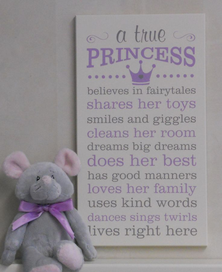 A True Princess, Princess Decor, Princess Rules, Painted Wood Sign Purple / Gray Princess Crown Sign, Baby Girl Nursery Princess Subway Art by NelsonsGifts on Etsy https://www.etsy.com/listing/256285522/a-true-princess-princess-decor-princess