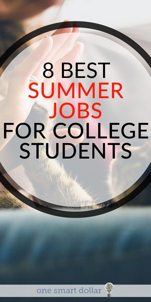 8 Best Summer Jobs For College Students One Smart Dollar Best Summer Jobs Summer Jobs College Jobs Student