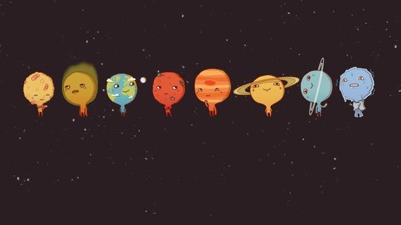 Cartoon Solar System Framed Photo Print In 2021 Cute Wallpapers For Computer Desktop Wallpapers Tumblr System Wallpaper Cute wallpapers for pc