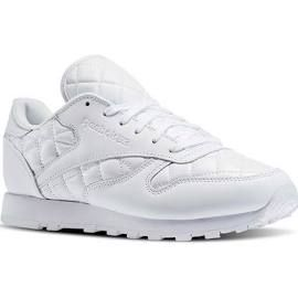 Reebok Womens Classic Leather Quilted in White / White Size 6 - Retro  Running Shoes