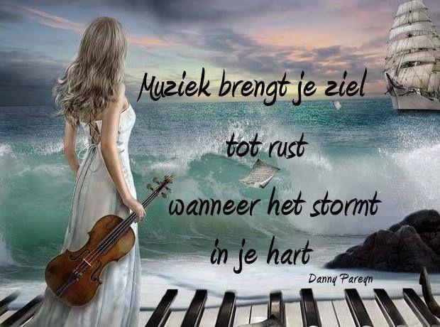 'Muziek brengt je ziel tot rust wanneer het stormt in je hart.'