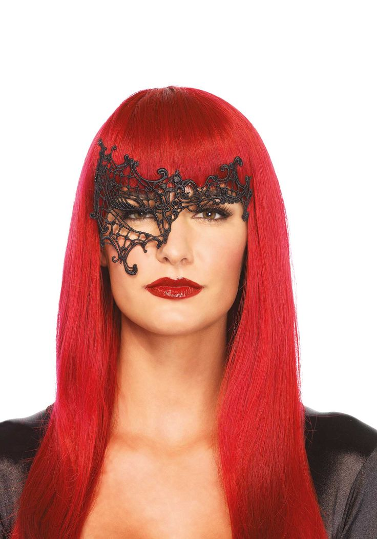 Maschera veneziana nera: Questa maschera veneziana di colore nero è un prodotto di grande raffinatezza e eleganza, realizzato in pizzo.Questo splendido accessorio si adatterà ad ogni vostro travestimento, che... #halloween #maschere #halloweenmaschere