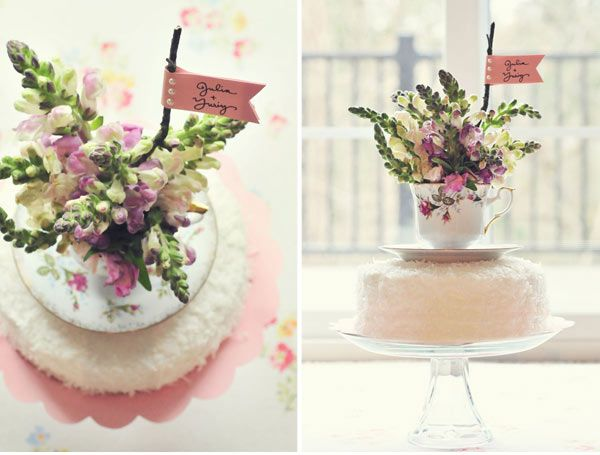 {The Ardent Sparrow}: Weekend Project {Teacup Cake Topper}
