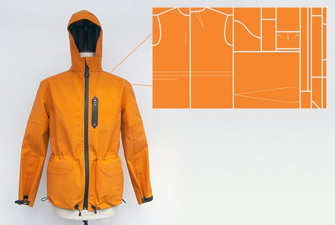 Have you heard of zero waste fashion?  Here is an intriguing menswear example - every piece of fabric is used to make this jacket!