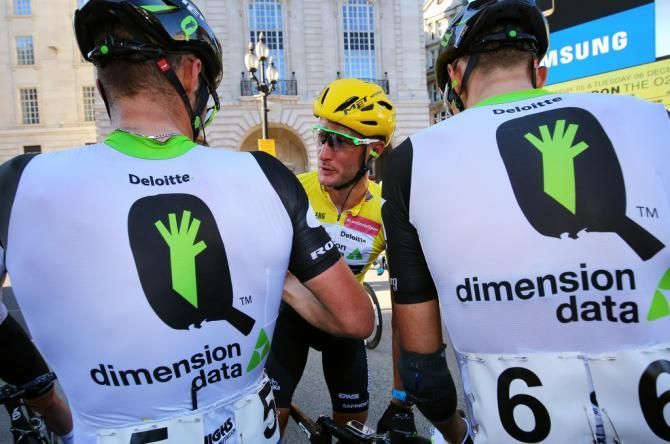 Dimension Data retaining WorldTour status in 2017.  (Photo: Steve Cummings and Dimension Data celebrate the overall victory