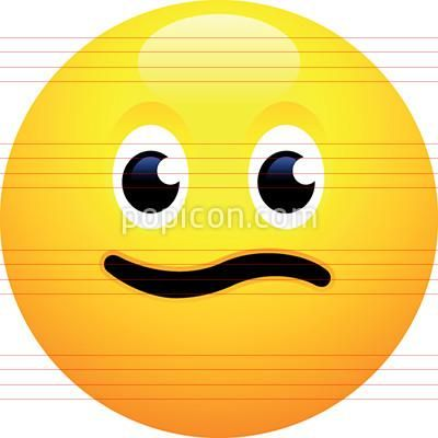 Slightly Confused Face Emoji