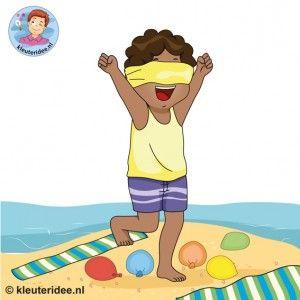 12 strandspellen voor kinderen , kleuteridee.nl