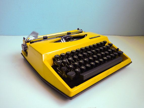 And then I'd write you a letter on my yellow typewriter thanking you for the lovely call
