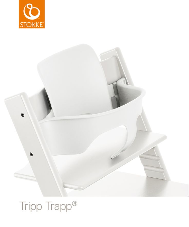 Baby indsats i hvid til Stokkes trip trap stol