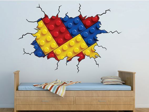 Lego Wall Cling | Lego Wall Decals | Home Design Ideas