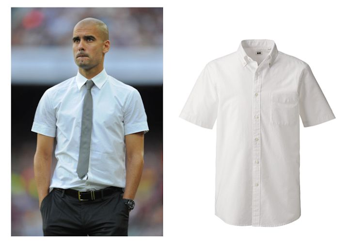 Josep Guardiola best style summer short sleeve dress shirt Uniqlo ...
