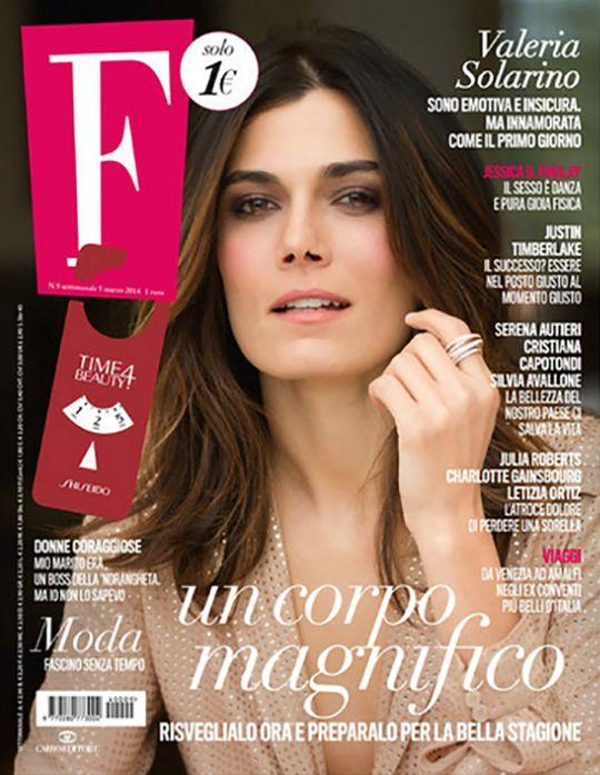 Actress Valeria Solarino on F Magazine cover, hair by Massimo Serini, March 2014