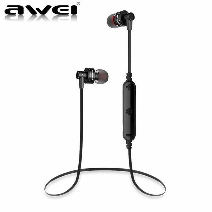 New Original AWEI A990BL Universal Wireless Bluetooth 4.0 Sport Earphone In Ear Headset Headphone For Sony Z2 Z3 Sumsang S6