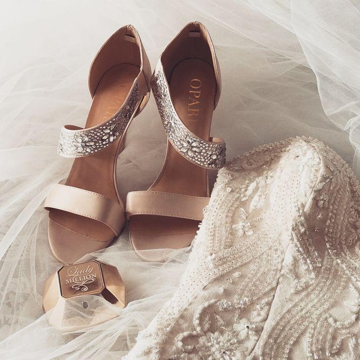 Stappy wedding shoes! #oparishoes #strappyshoes #weddingshoes