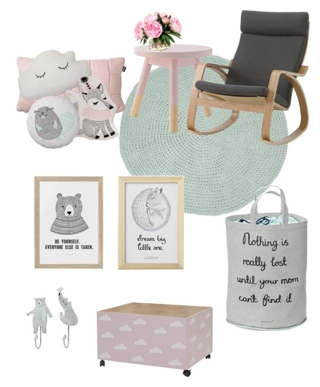 """""""Baby"""" by amandaahlm on Polyvore featuring interior, interiors, interior design, home, home decor, interior decorating and Bloomingville"""