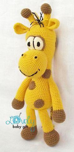 Crochet Pattern - Amigurumi Giraffe Pattern in English, Danish, Dutch, German and French languages. http://www.ravelry.com/patterns/library/stuffed-giraffe