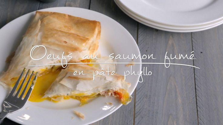 Œufs au saumon fumé en pâte phyllo