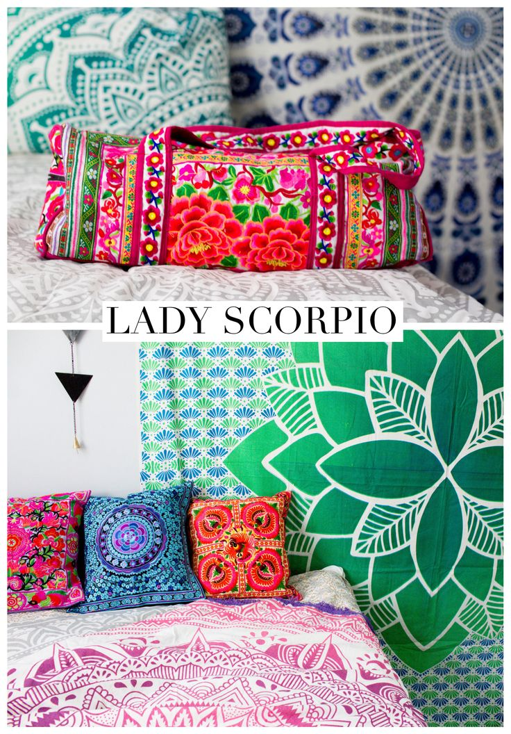 I Love This Lady Scorpio Decor Flower Child Duffel☽ Save