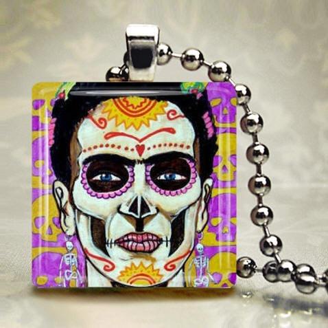 Day of the Dead Jewelry  Mexican Folk Art by HeatherGallerArt, $28.00