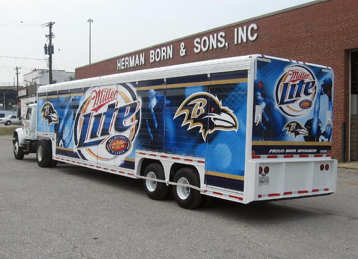 Miller Lite / Baltimore Ravens bay truck