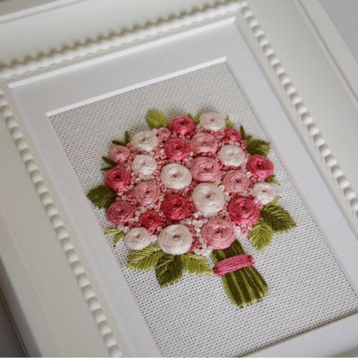 """У всех весна и у меня тоже, розовая весна Моя новая работа """"букет роз"""""""