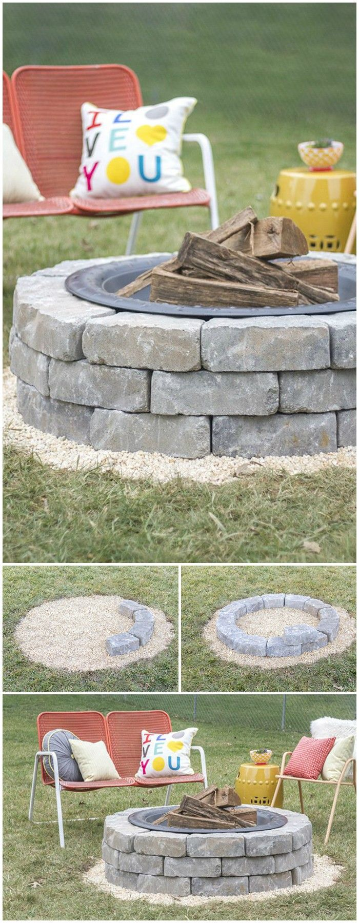 #DIYfirepit ideas also add a glamorous look to your interior and exterior décor with their amazing and unique designs.