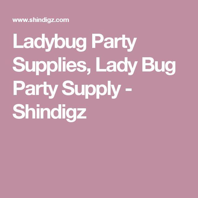 Ladybug Party Supplies, Lady Bug Party Supply - Shindigz