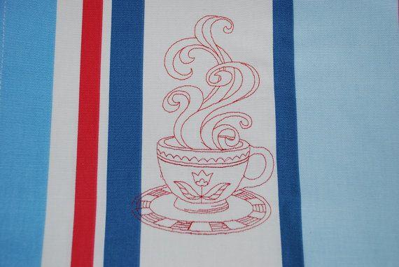 Linen Towel Kitchen Tea Hand Dish Towel Embroidery by Rokasdarbi