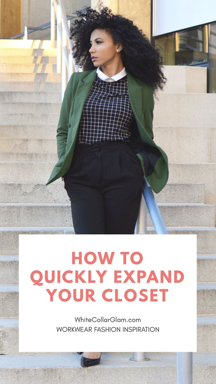 White Collar Glam, Black bloggers, Green blazer, black slacks, black pants, windowpane print, the Limited blouse, collared shirt, professional clothes, work outfit, work clothes, office outfits, Charlotte, NC, workwear, natural curls, curly hair, wash and go, natural hair, women's work wardrobe