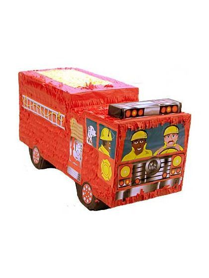 Look at this adorable and fun Firefighter Fire Engine Pinata! You can buy it here!