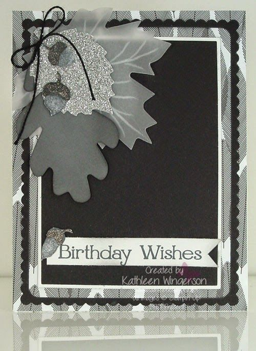 KathleenStamps: It's Masculine Monday - Birthday Card and Video -- Stampin' Up!