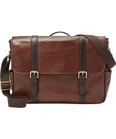 e39a04c079e6 Best Messenger Bag for Guys to Splurge on  Fossil Men s Estate Saffiano  Leather EW Messenger Bag
