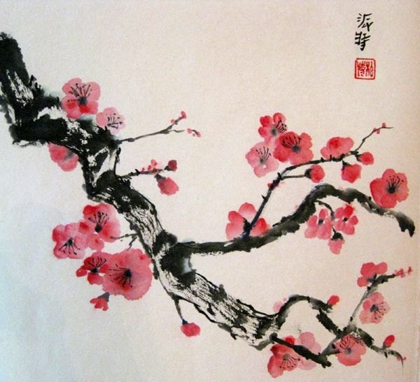Early Spring by Patricia R. Crannell From the Sumi-E Society America Gallery