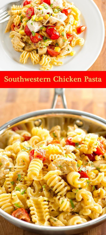 Southwestern Chicken Pasta   girlgonegourmet.com