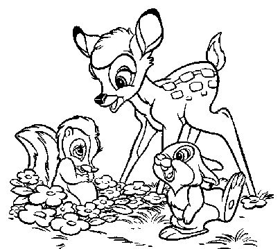 bambi coloring pages bing images