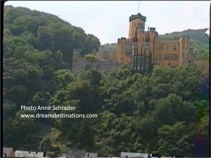 Schloss Stolzenfels near Koblenz Germany.  This is one of the few castles where you can tour furnished rooms.  It was restored in 1823 after being burned down by the French in 1688/89.