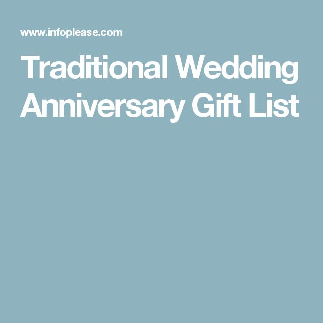 Traditional Wedding Gift List Ideas : 1000+ ideas about Wedding Anniversary Gift List on Pinterest Wedding ...