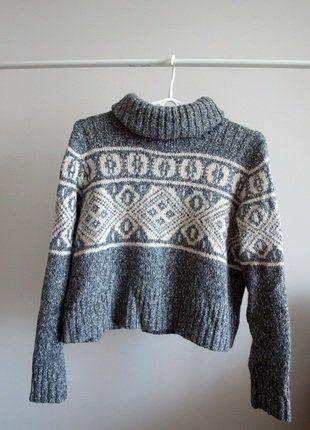 Kup mój przedmiot na #vintedpl http://www.vinted.pl/damska-odziez/swetry-z-golfem/15675254-gruby-sweter-golf-bardzo-cieply-welniany-naturalny-material-wzor-krotki