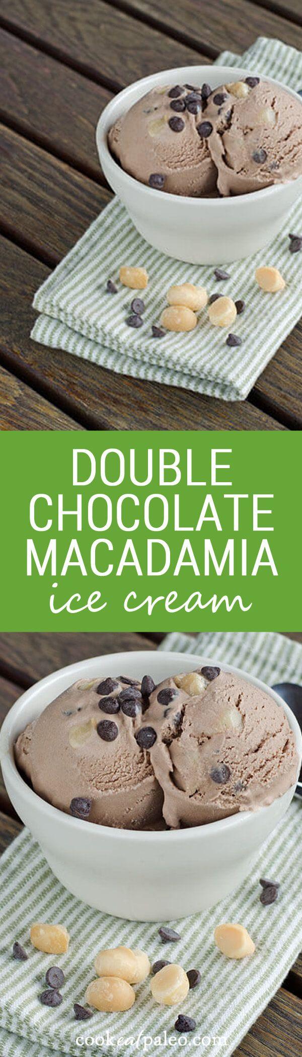easy double chocolate macadamia ice cream really delivers on chocolate ...